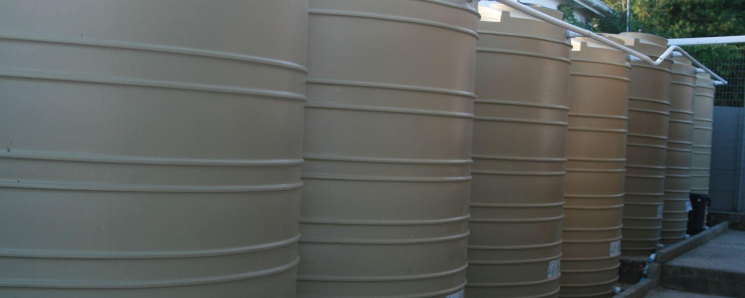 We're going green with 10x 5000l water tanks